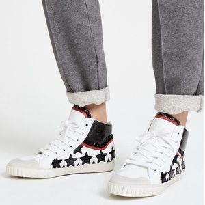 Ash Musik Star Studded High Top Sneakers Sz 7